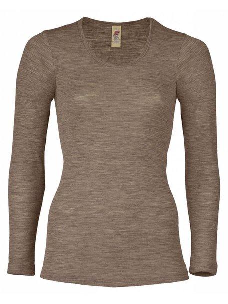 Engel Natur Longsleeve Women Wool/Silk - Brown