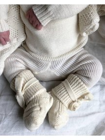 Hirsch Natur Newborn Socks Wool - Natural
