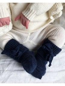 Hirsch Natur Newborn Socks Wool - Marine