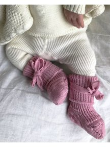 Hirsch Natur Newborn Socks Wool - Rose