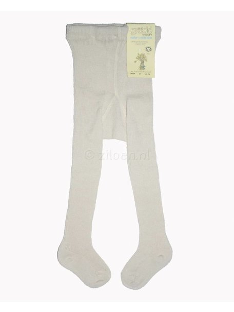 Grödo Thick Baby Tights Wool - White/Natural
