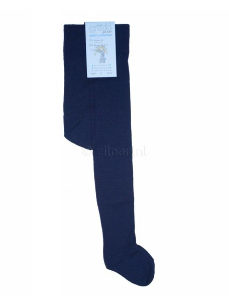 Grödo Tights Wool/Cotton - Dark Blue