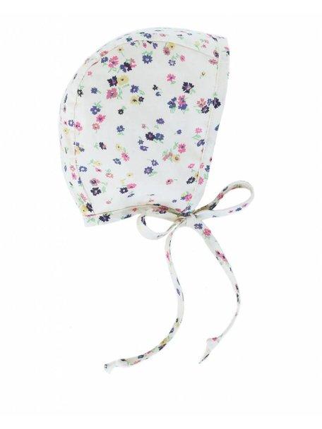 Briar Handmade Cotton Baby Bonnet Flowerprint - Forget Me Not