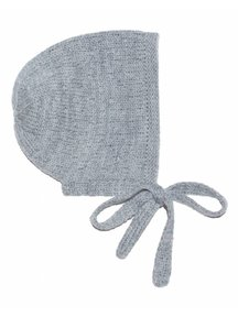 Soof Bonnet With Little Dots - grey