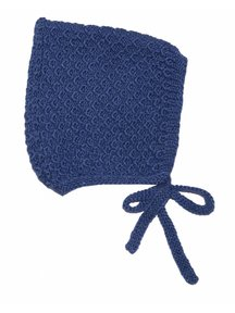 Soof Honey Comb Bonnet Alpaca/Silk - navy