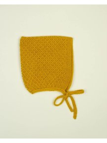 Soof Honey Comb Bonnet Baby Alpaca - yellow