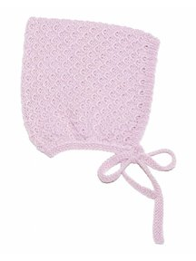Soof Honey Comb Bonnet Alpaca/Silk - rose