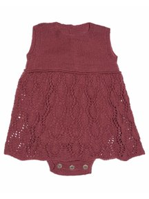 Soof Baby Romper / Dress - burgundy