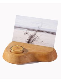 Mercurius Photo Holder with Beeswax Candle