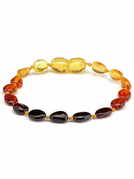 Amber Amber Baby Bracelet 14 cm - Rainbow Oval