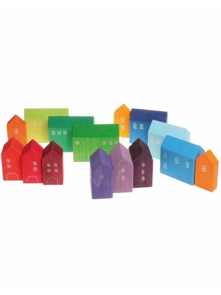 Grimm's Wooden Rainbow Houses