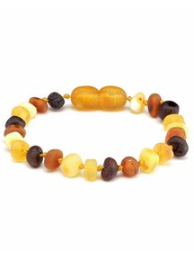 Amber Amber Baby Bracelet 14 cm - Multi Colour Raw