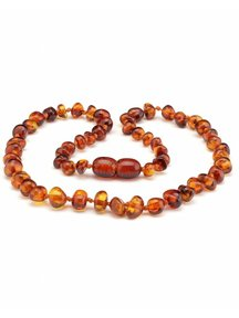 Amber Amber Baby Necklace  32 cm - Cognac