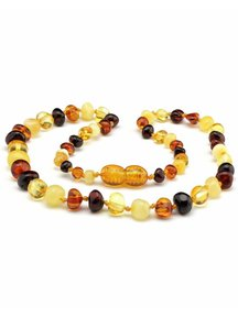 Amber Amber Baby Necklace 32cm - multi colours 4