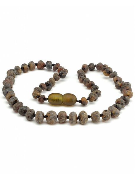 Amber Amber Baby Necklace 32 cm - Olive Raw