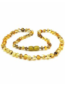 Amber Amber Ladies Necklace 45 cm - Olive