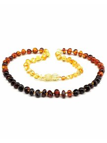 Amber Amber Ladies Necklace 45 cm - Rainbow