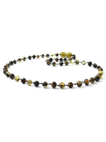 Amber Amber Kids Necklace 38 cm - Olive