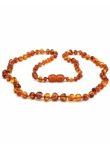 Amber Amber Ladies Necklace Extra Long 64 cm - Cognac