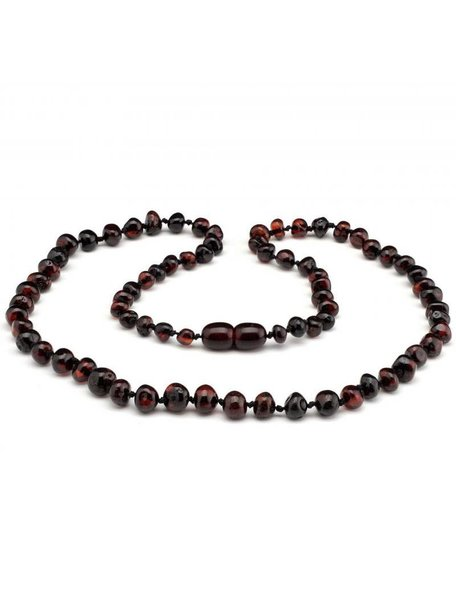 Amber Amber Ladies Necklace Extra Long 64 cm - Cherry