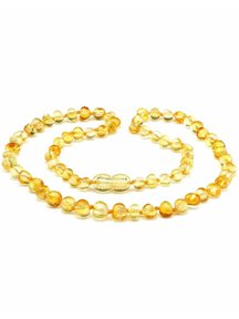 Amber Amber Ladies Necklace Extra long 64 cm - Lemon
