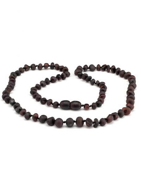 Amber Amber Ladies Necklace Extra Long 64 cm - Cherry Raw