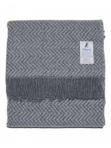 Mara Woolen Blanket 130 x 90 cm - Grey