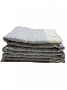 Mara Woolen Plaid 135 x 240 cm - Grey