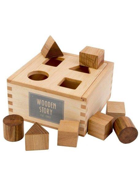 Wooden Story Natural Shape Sorter Box