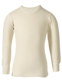 Ruskovilla Merino Wool Top - Natural