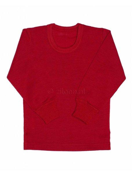 Ruskovilla Merino Wool Top - red