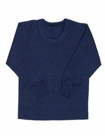 Ruskovilla Merino Wool Top - navy
