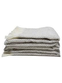 Mara Woolen Plaid 135 x 240 cm - beige