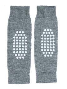 Hirsch Natur Leg Warmers for Kids Anti-Slip - grey