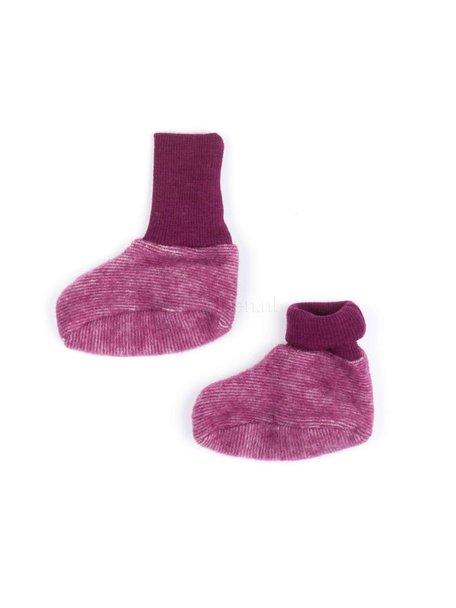 Cosilana Baby Booties Wool Fleece - Burgundy