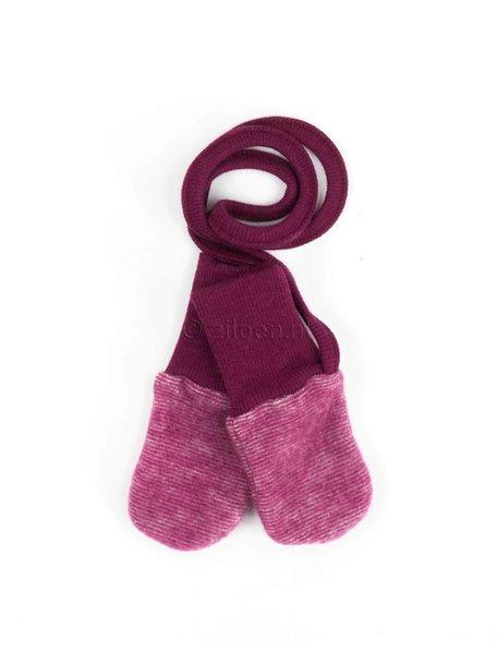 Cosilana Mittens Wool Fleece - Burgundy