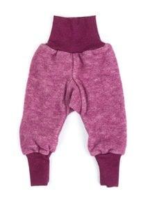 Cosilana Pants Wool Fleece - burgundy