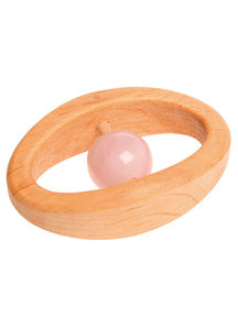 Grimm's Rattle With Gemstone - Rose Quartz