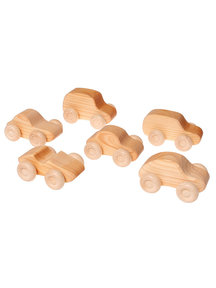 Grimm's Wooden Cars - Natural