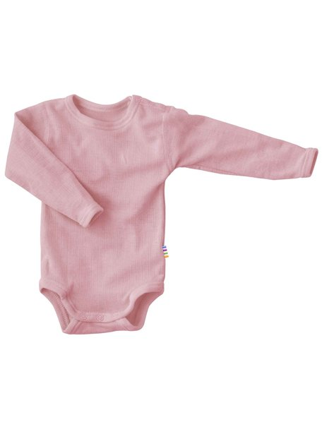 Joha Body with long sleeves wool - Old rose
