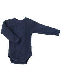 Joha Body with long sleeves wool - Navy