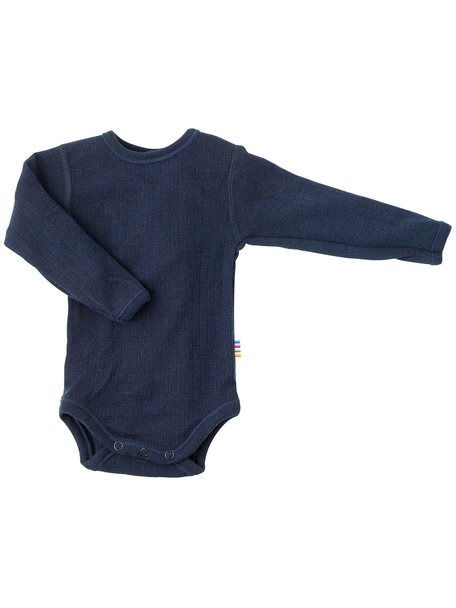 Joha Body with long sleeves wool - Navy