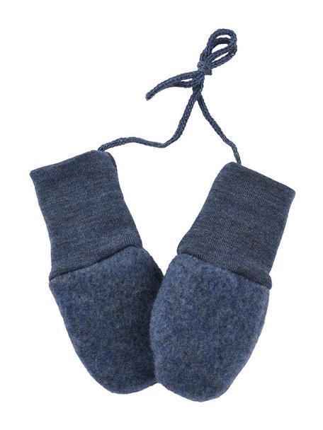 Engel Natur Mittens Wool Fleece - Navy