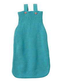 Disana Knitted Sleeping Bag Organic Wool - Lagoon
