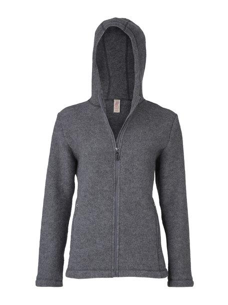 Engel Natur Women's jacket wool fleece - grey