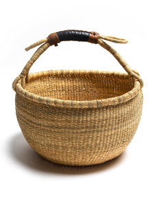 Fair Trade Handwoven Basket 35-40cm diameter