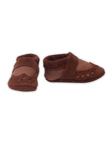 Pantolinos leather baby shoes - brown