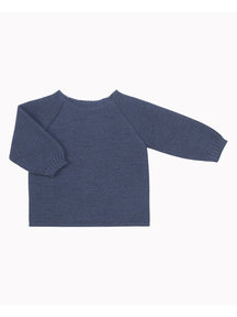 Selana Woolen wrap cardigan - blue