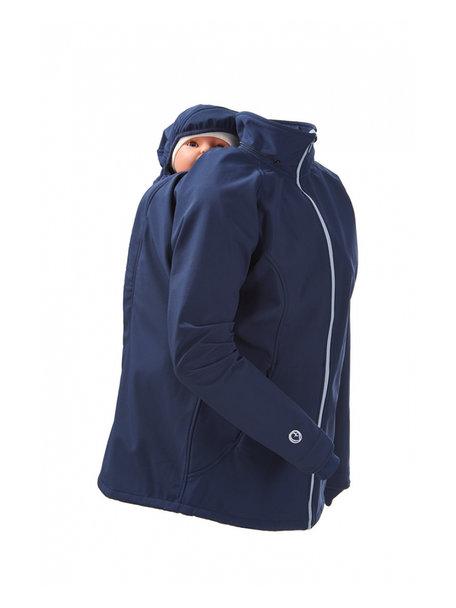 Mamalila Softshell Babywearing Jacket clickit -navy-ice