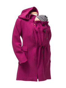 Mamalila Hooded Babywearing Coat - berry